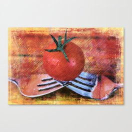 A Tomato Sketch Canvas Print