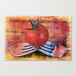 A Tomato Sketch Canvas Print