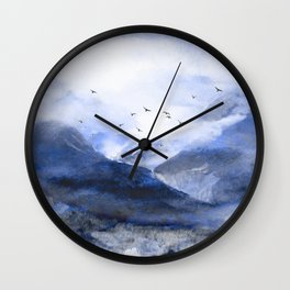 Blue Mountain Wall Clock