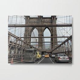 Brooklyn Bridge daily commute Metal Print