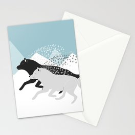 Wolves black and white Stationery Cards