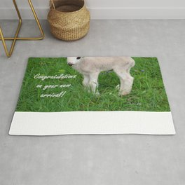 Congratulations On Your New Arrival Rug