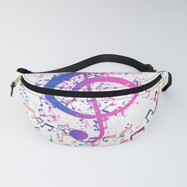 Treble Clef In A Circle Of Music Notes Fanny Pack
