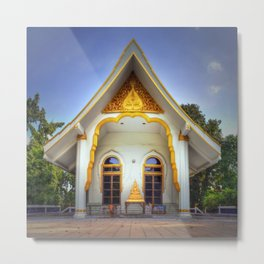 Temple Front Thailand Metal Print