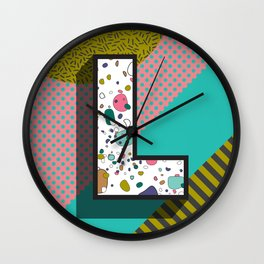 Modern Alphabet Letter L ABC Wall Clock