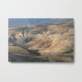 Desert view from a mountain called Nebo Metal Print