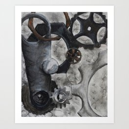 Black Bolts Art Print