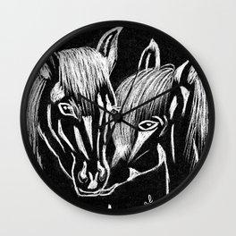 Horses love Wall Clock
