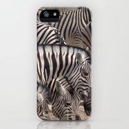 Zebras at watering hole - Greg Katz iPhone Case