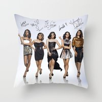fifth harmony Throw Pillows featuring Fifth Harmony  by stephanie