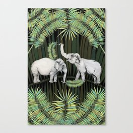 The Elephant Queens Canvas Print