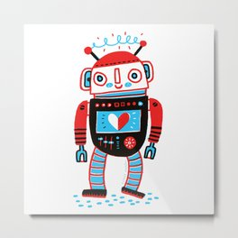 Your Robot Friend. Metal Print