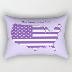 Make America Purple Again United States Map Rectangular Pillow