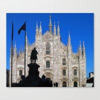 milan Canvas Prints featuring Milan by Kallian