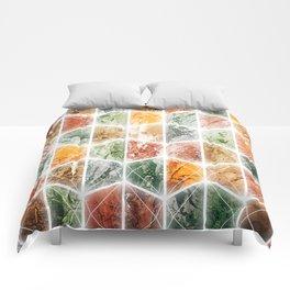 bright honeycomb Comforters