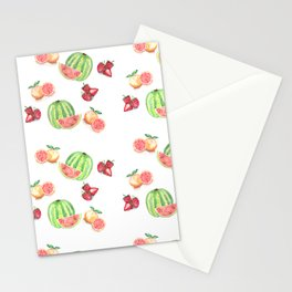 Three Fruit Combo Pattern Stationery Cards