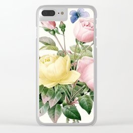 Rose Bouquet Clear iPhone Case