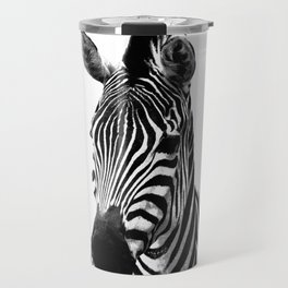 Black and white zebra illustration Travel Mug