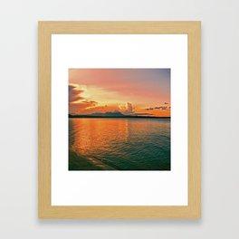 Pure Sunset Framed Art Print