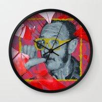 terry fan Wall Clocks featuring Terry by Dmitry  Buldakov