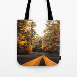 on the road in vermont Tote Bag