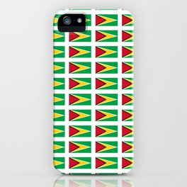Flag of Guyana -Guyanese,Guyanes,Georgetown,Linden,Waiwai iPhone Case