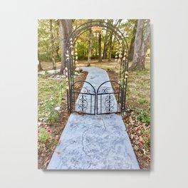 Autumn's gate Metal Print