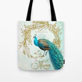 Peacock Mode Tote Bag