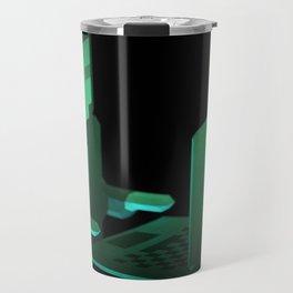 Hacker low-poly 3D artwork Travel Mug