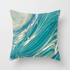 Neptune's Wild Ocean Throw Pillow