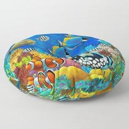 Heart of the Atlantic Floor Pillow