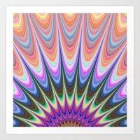sunrise Art Prints featuring Sunrise by David Zydd