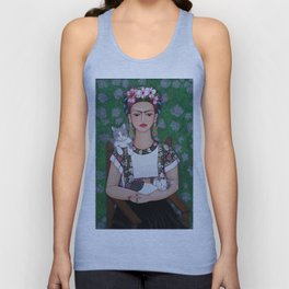 Frida cat lover Unisex Tank Top