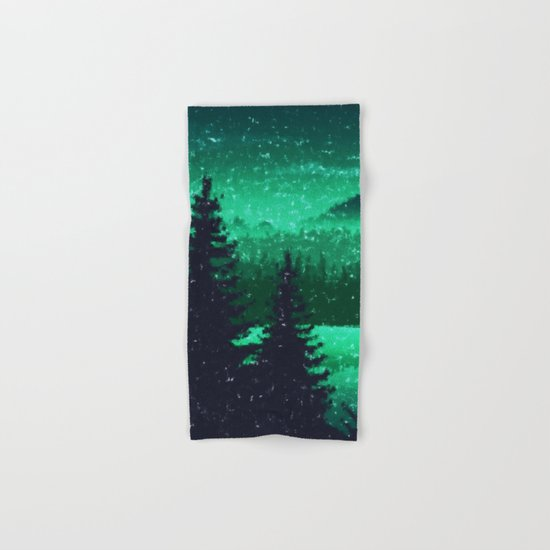 Snowing in the forest Hand & Bath Towel