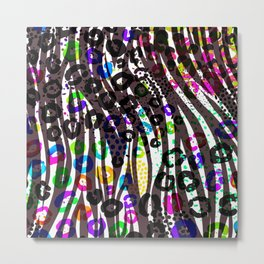 Funky Multi Color Animal Print Metal Print