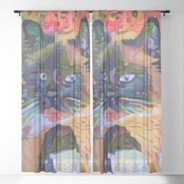 Hula Girl Sheer Curtain