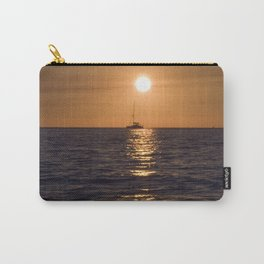 Summersunset with Boat - Warnemuende - Baltic Sea Carry-All Pouch