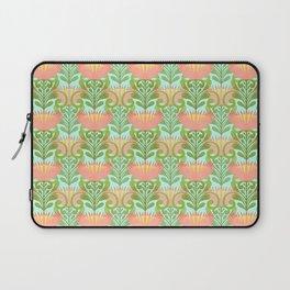 King Protea Flower Pattern - Turquoise Laptop Sleeve