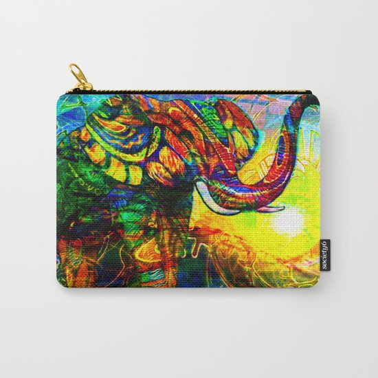 """ The old elephant knows where to find some water. "" Carry-All Pouch"