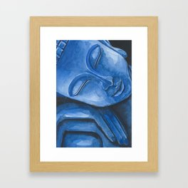 Blue Buddha Framed Art Print