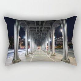 Pont de Bir-Hakeim at night - Paris, France Rectangular Pillow