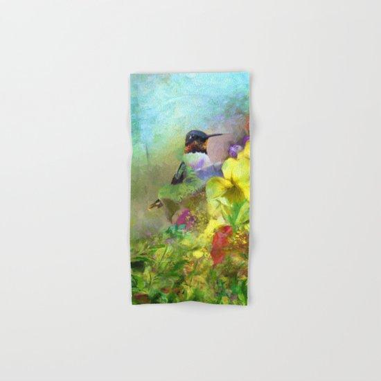Hummingbird Bouquet Hand & Bath Towel