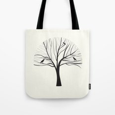 bird tree Tote Bag
