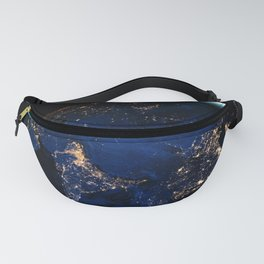Let Your Light Shine, Earth Lights In Space, Galaxy Background, Universe Large Print, Space Wall Art Fanny Pack