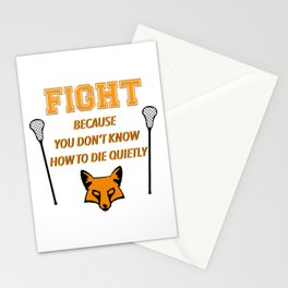 """The Foxhole Court – """"Fight"""" – All For The Game Stationery Cards"""