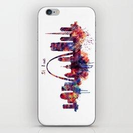St Louis Watercolor Skyline iPhone Skin