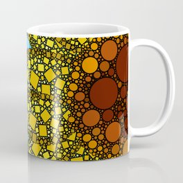 Sunflower in Abstract Form - Flower field - Autumn and summer collide - 57 Montgomery Ave Coffee Mug