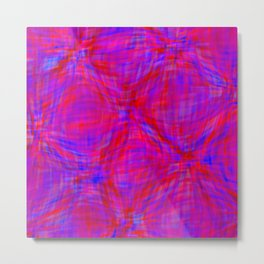 swellings in coral and blue Metal Print