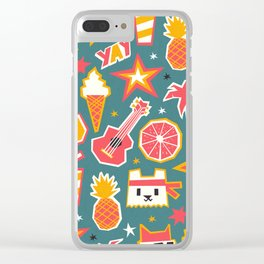 Summer is yay! Clear iPhone Case