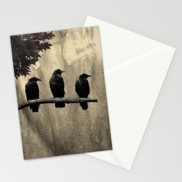 Three Like Minded Crows Stationery Cards